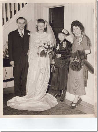 June's wedding picture