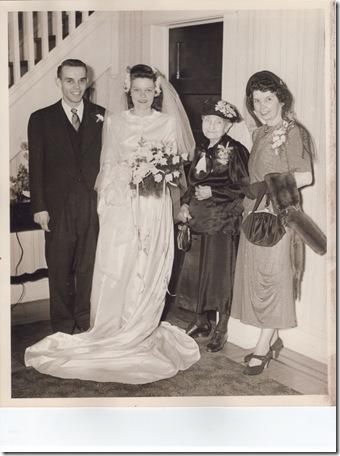 June's wedding picture