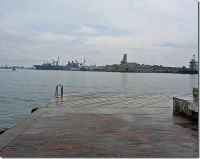 Across harbor